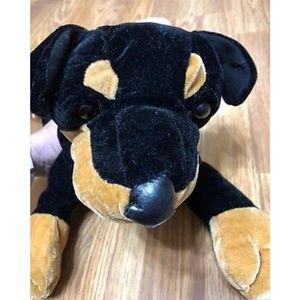 Other - Rottweiler Dog Stuffed Plush Animal Black and Tan